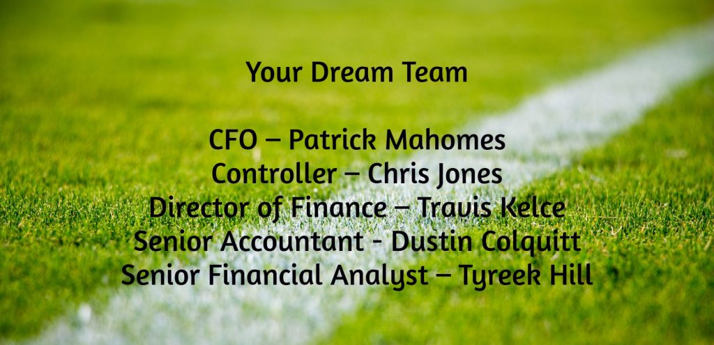Accounting jobs and Finance jobs as played by the KC Chiefs